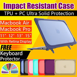Crystal Clear Matte PC TPU Hard Case Cover for Macbook Pro 13.3 15.4 Pro Retina 12 13 15 inch