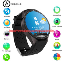 KW88 Smart Watch 1.39 Inch Quad Core 1.3GHZ Android 5.1 3G Smartwatch 2.0 MP Heart Rate Monitor