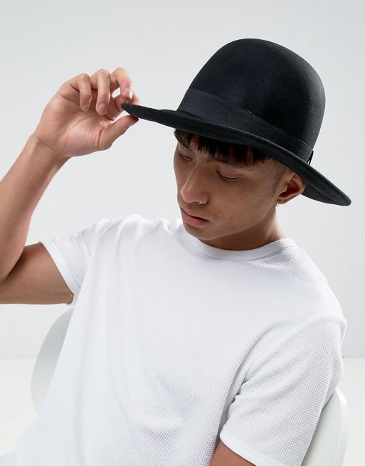 02440c8ce7e Qoo10 - ASOS Fedora Hat With Unstructured Crown   Fashion Accessories