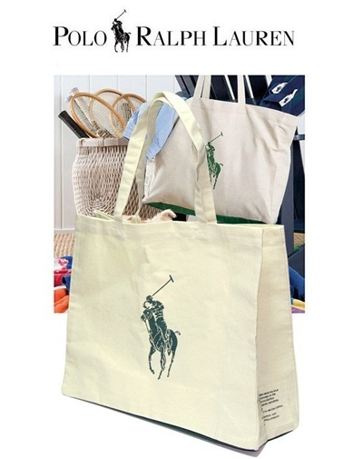 0c32f235fc07  Polo  Ralph Lauren orgnic Tote   Polo   Big Pony   canvas bag