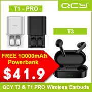 QCY T3 or T1 PRO Bluetooth 5.0 TWS Sweatproof Earphones (FREE 10k MAH Powerbank) 1010 SPECIAL