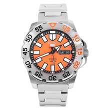 Seiko 5 Sports Automatic Monster Orange Dial Watch SRP483K1 SRP483K SRP483