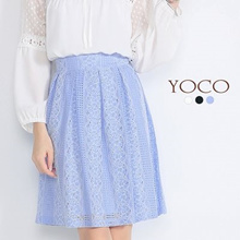 YOCO - Lace Pleated Skirt-6019771-Winter