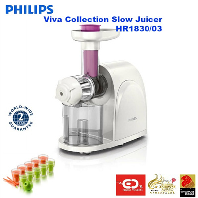 Philips Slow Juicer 1830 : Qoo10 - Philips viva Collection Slow Juicer - HR1830/03 (??? ?? ??? ?? ?? - HR... : Home Electronics
