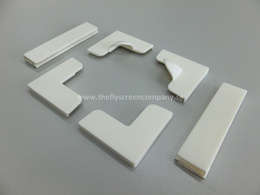 Corners and Clips with 3M Adhesive Tape | For use with DIY Magnetic Flyscreen Mosquito Insect Net