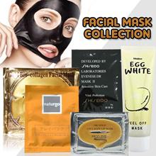 Masker wajah / SHISEIDO BLACK MASK / Shiseido Blackhead Nose Remover Mask Masker Mengangkat Komedo