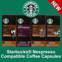 Starbucks Capsule Coffee for Nespresso : Colombia Espresso Guatemala Kenya