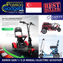 [Local Seller] Xerox 3 Wheel Electric Scooter elder triwheel Mobility Scooter