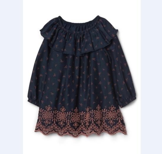ギャップベビーをScallopedアイレットワンピース5237440501057 面ワンピース/ 韓国ファッション