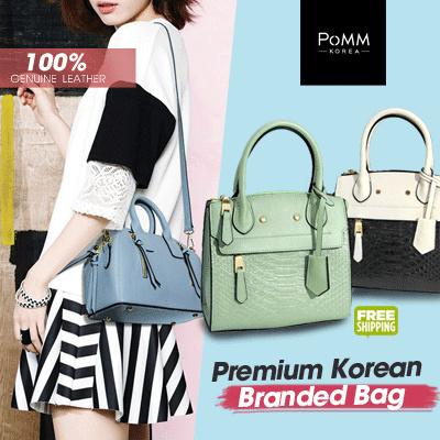 Premium Korean Bag 100% Genuine Leather Pont Neuf_Angela /Tas Wanita / Women Handbag / Tas Kulit Deals for only Rp215.000 instead of Rp215.000