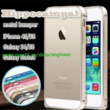 SG 2014 new arrival hot Hippocampal buckle metal bumper frame for iPhone 4S 4 iPhone 5S 5 Galaxy S5