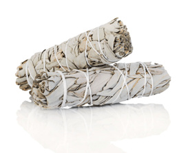 Mini White Sage Smudge Stick Wand (Natural insect repellent) - Twin pack