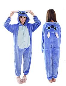 Blue Stitch Onesie Cartoon Unisex Costumes cospaly蓝色史迪奇连体衣