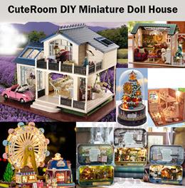 CuteRoom Model Kits★Miniature Doll House Dollhouse★DIY Gift Wooden Handmade