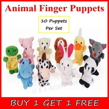 [BUY 1 GET 1 FREE] [50% OFF PROMOTION !!!] Animal Character Telling Finger Family Puppet Plush Toys