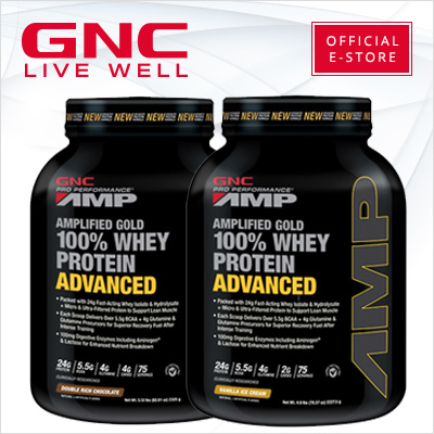 GNC PP AMP Gold 100% Whey Protein Advanced 5 lbs [Sports Nutrition/Build Muscle/Bodybuilding/Whey/Protein Powder]  ★500 Qpoints Giveaway on 17-30 Sep 2016 only★