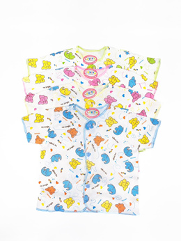 [4 Pcs] Luvita Short Shirt Motif - Newborn