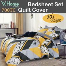 🔥2021 New Designs【Fitted Bedsheet set/Quilt cover】Deep pocket! Fine workmanship! Comfy touch