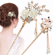 Quick View Window OpenWish. rate 2. 20 styles Women Elegant Secluded Orchid  Bobby Pin Fashion Hairpin Rhinestone Hair StickVintage jewel dee519d21aed