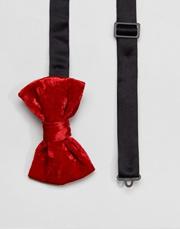 ASOS Velvet Bow Tie In Red