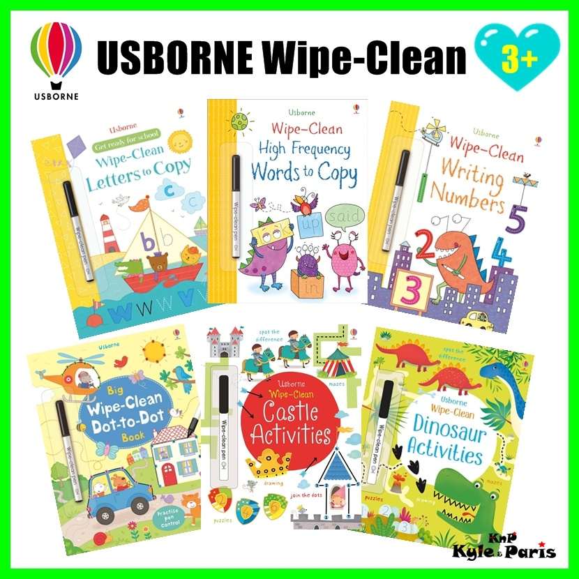 New!Usborne Wipe Clean Activity Book ✧Wipe Clean Learning✧Educational  Activities✧Gifts Preschool