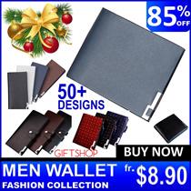 ★Men Wallet Card Holder Travel Bag Holder Korean Slim ETC Thin Long Passport Coin Zip Money