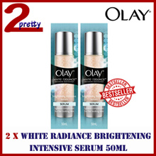 (GSS First 100qty) 70% Off [1+1] 2 x Olay White Radiance Brightening Intensive Serum 50ml