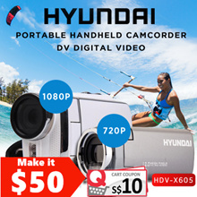 Hydundai HDV-X605/Z600 Portable Camcorder DV Digital Video Camera 720P/1080P HD