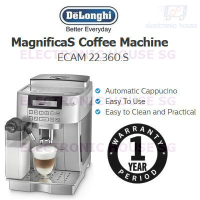 Delonghi Coffee Maker O Rings : Qoo10 - Delonghi ECAM 22.360.S Magnifica S Coffee Machine (1 Year Singapor... : Home Electronics