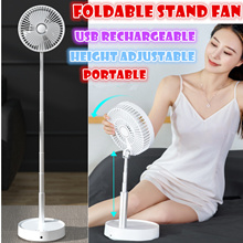 Foldable standing fan led light portable USB re-chargeable table lamp adjustable remote control