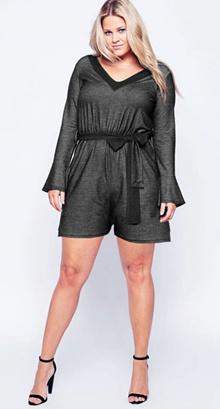 bigsize grey jumpsuit