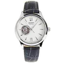 RA-AG0025S10B RA-AG0025S Orient Open Heart Automatic Leather Strap Ladies Dress Watch
