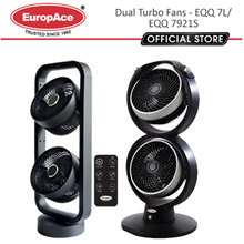 EQQ 7L EuropAce 7inch Turbo Fan Dual Blower/ 9 Inch Blowers EQQ 7921S
