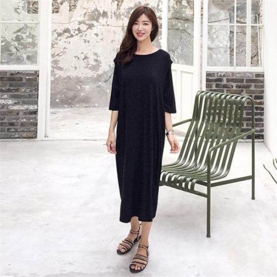 るみさん行き来するようにるみさんるみさんルージュロング・イージーワンピース プリントのワンピース/ 韓国ファッション
