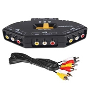∽3 Port AV Audio RCA Phono Selector Switch Hub Connect Xbox PS2 DVD∽