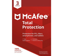 McAfee Total Protection 2019 3PCs/Users 1 Year