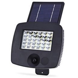 200LM 30 LEDs Solar Powered Wall Light Outdoor PIR Motion Sensor Lamp