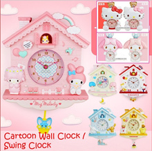 Cartoon Wall Clock / Swing Clock / Child Bedroom Clock