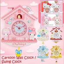 Cartoon Wall Clock / Swing Clock / Child Bedroom Clock