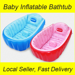 [Local Seller] Inflatable Baby Bathtub / Portable Infant Bath Tub / INHAND / INTIME