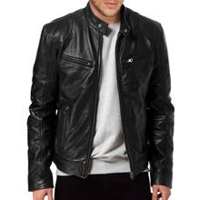 Local brand Men semi leather jacket - SK030 - Big Size Ready