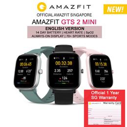 [Official Amazfit Singapore] AMAZFIT GTS 2 Mini GPS Waterproof Smart Watch | English Version