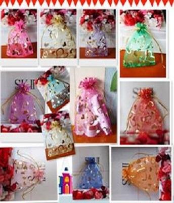 KINGWEDDING 3x4 8x10cm Royal Blue Organza Drawstring Strong Candy Jewelry Pouch Gift Bag for Party Wedding Favor 100Pcs