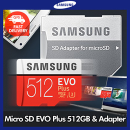 Samsung Micro SDXC Memory Card EVO Plus 512GB with SD adapter