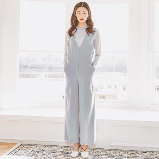 ナインNAINクラシックつなぎOP3181 面ワンピース/ 韓国ファッション