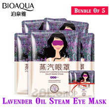 Sg Seller Bundle of 5 Steam Eye Mask Healing Warm Eye Mask Relieve Fatigue Massage Moisturizing