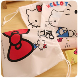 Hello Kitty Pouch Make Up Bag Drawstring Bag Travel Esstential gift school birthday event
