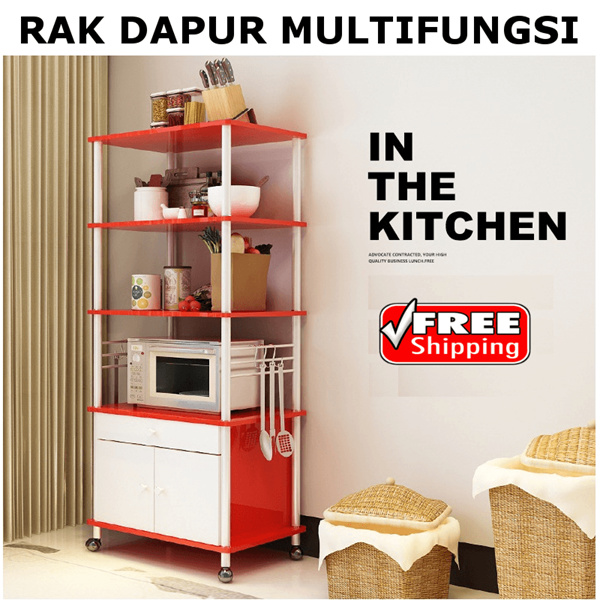 DIY MODERN KITCHEN SHELVES RACK 1/2/3 LAYERS BEST QUALITY Deals for only Rp812.500 instead of Rp812.500