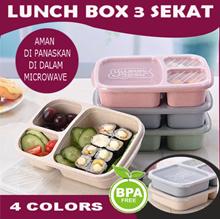 PD023 Lunch Box Kotak Makanan 3 Sekat BPA FREE Food Container Bekal