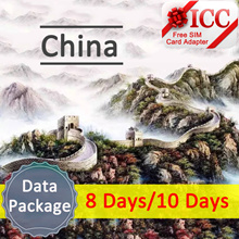 ◆ ICC◆【China Data Sim Card】4GLTE Data For 8/10/15 Days data❤ Support Facebook/ Google / Whatsapp